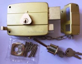Hook Latch Rim Lock Double Cylinder Door Lock ZL 2377