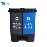 inspection 50% off Household Double bin and trash can pedal for garbage classification and refuse sorting