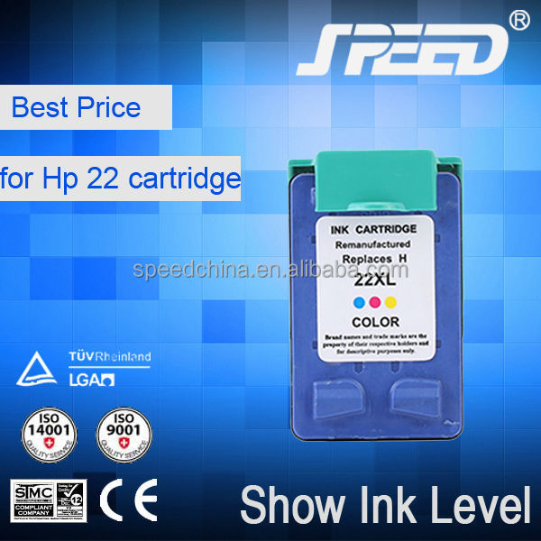 Plastic Prink Ink for HP22 Made in China