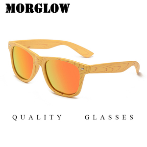 Morglow Dropping Cheap Wood TAC polarized logo printing white label sunglasses with mixed colors