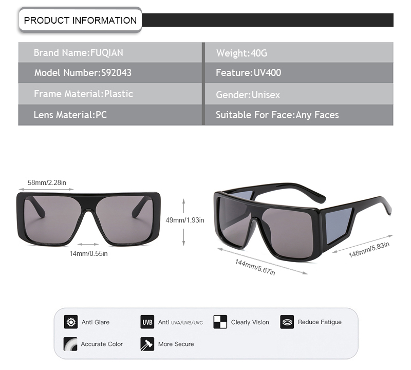 Fuqian cheap sunglasses uk factory for sport-9