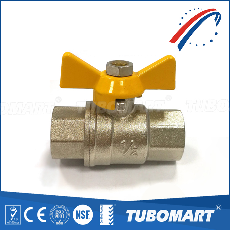 brass ball valve for natural gas with long butterfly handle DN20 600wog 1/2-4inch