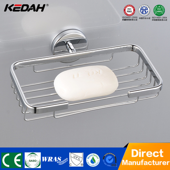 New Bath Aluminium Soap Dish With Drain Basket For Holder Hotel