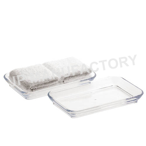 Rectangular clear plastic acrylic towel holder