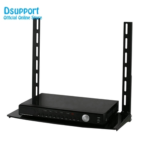 Metal Stamping Brackets TV Holders Low Profile Flat Panel TV Mount and Glass Entertainment Center Combo