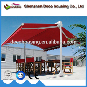 China cheap double side swing awnings aluminum garden awning #dx510 sides freestanding rv