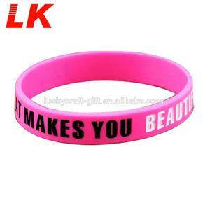 Cheap custom made cool popular printable silicone wristbands