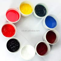 Bright color Silicone printing inks for silicone rubber