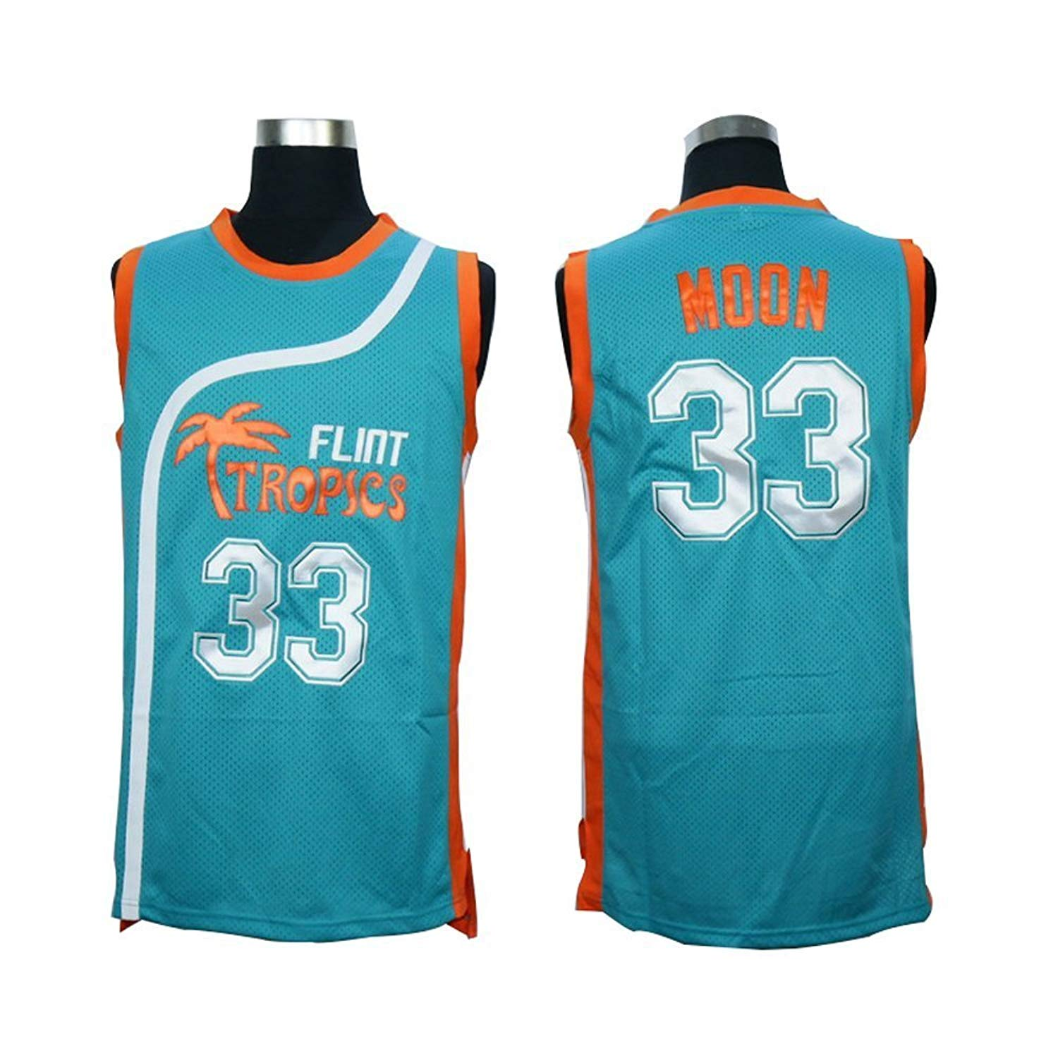 2aefb4859f1d Kooy Jackie Moon  33 Will Ferrell Flint Tropics Semi Pro Movie Basketball  Jersey