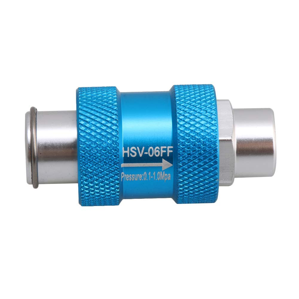 """BQLZR Blue 1/8"""" Thread HSV-06 Pneumatic Air Pipe Flow Control Switch Hand Operated Slide Valve"""