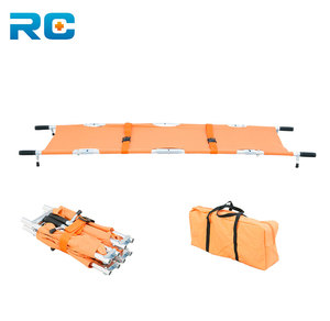 Aluminum Quarter Folding Stretcher /Light Weight 4 Folding Ambulance Stretcher For Sale