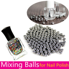 20pcs/100pcs Nail Polish Mixing Balls Nail Art Tool Stainless Steel Beads for Glitter Polish 5mm # 15225