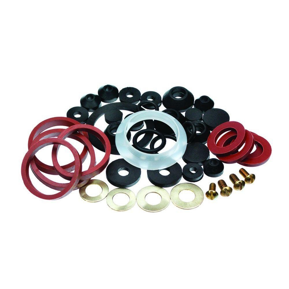 Wideskall Assorted Rubber Faucet Washers Assortment for Sink Faucet Repair