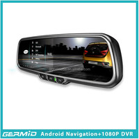 Android tablet car interior rearview mirror with Bluetooth,GPS,dual ways DVR recording