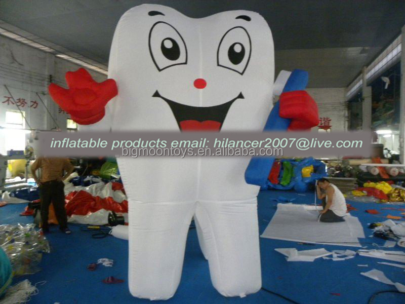 Customize giant inflatable tooth /inflatable tooth replica for advertising
