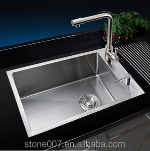 Single bowl good quality satin handmade kitchen sink