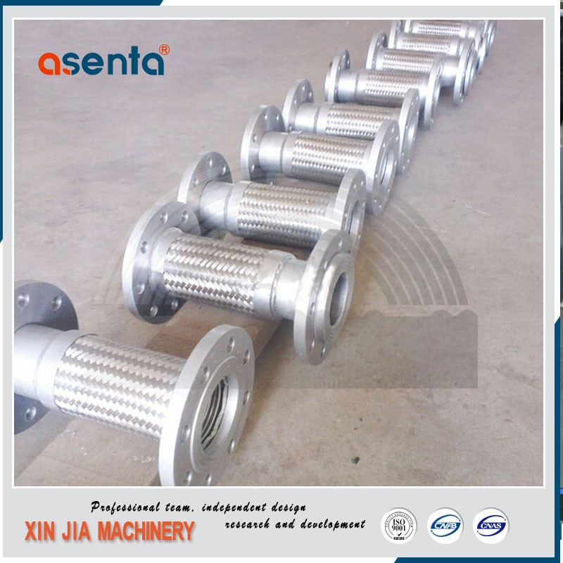 annular corrugated metal stainless hose pipe with flange end