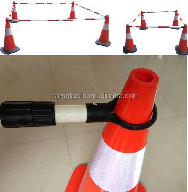 TCB-A38-001 Retractable ABS 2.2m reflective traffic cone bar