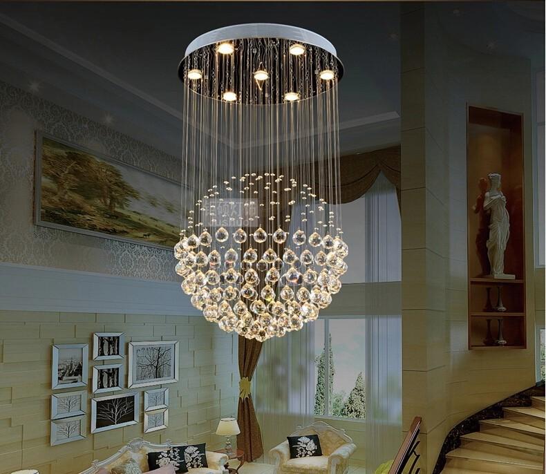 Crystal Chandeliers For Dining Room: Modern Round LED Crystal Chandelier Bedroom Living Room Dining Sphere Lighting Crystal