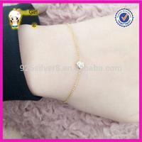 Beautiful elegant 925 sterling silver gemstone chain bracelet 14k gold or rose gold engagement wedding gift jewelry