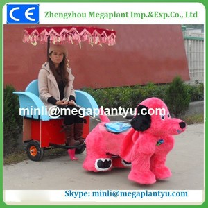With cart wheels cowboy horse toy for children for sale