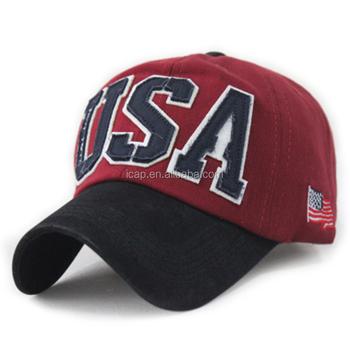 Hot Sale Usa Baseball Cap Custom Hats Baseball Hats Men Sport ... 91adae6916f