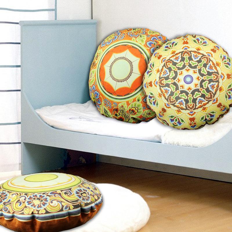 chinois rond oreiller coussins de canap en tissu seule chaise lit oreiller coussin dossier. Black Bedroom Furniture Sets. Home Design Ideas