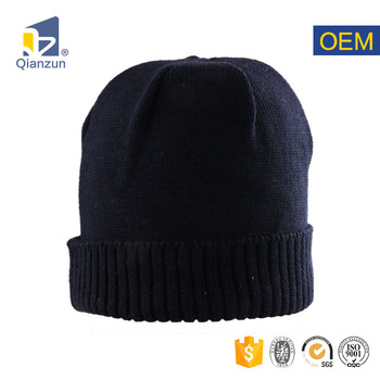 205c74924a7 plain black custom logo 100 cotton reversible beret beanie hat for women