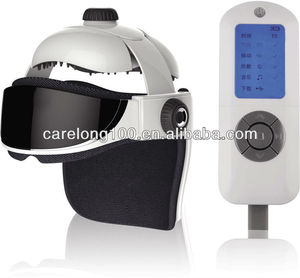 Rechargeable head and eye massager with music heating air