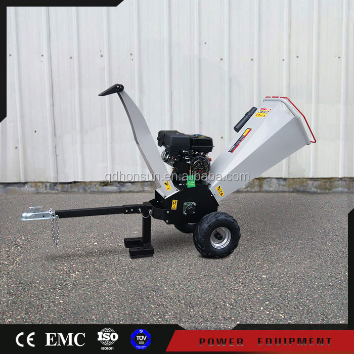 With 2 years warranty 13HP Honda petrol engine cheap CE certificate heavy duty hard atv towable wood chipper