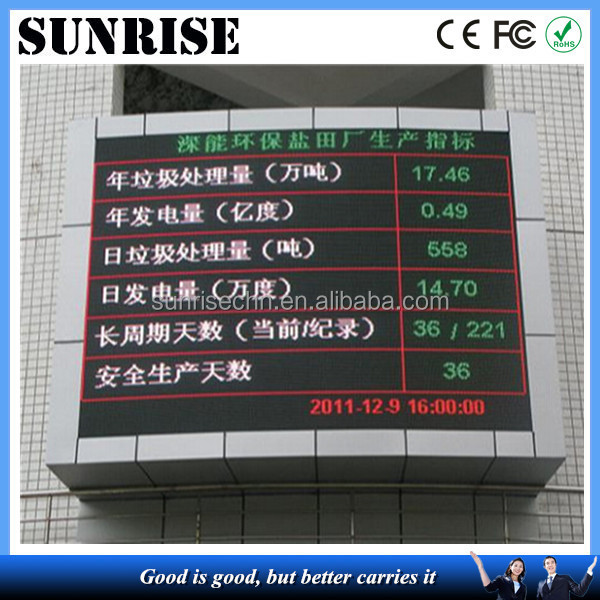 waterproof high brightness outdoor led message display for message delivering