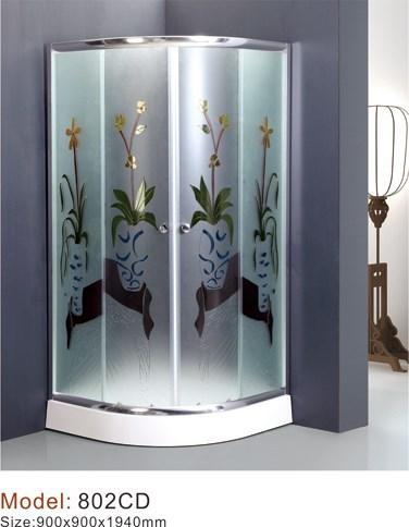 Surtidor de China tejió cristal cabinas de baños diseños simples ...
