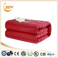 2015 Hot Sale King Polyester Electric Heated Throw Blanket for travel