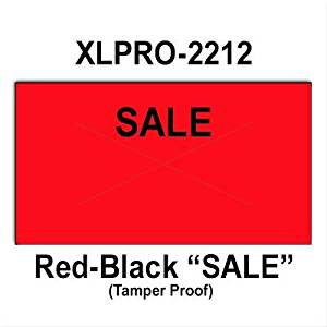 "240,000 XLPro 2212 compatible ""Sale"" Fluorescent Red General Purpose Labels to fit the XLPRO-22B, XLPRO-22C, XLPRO-22D, XLPRO-22V Price Guns. Full case, includes 8 ink rollers."