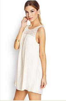 da259aae66d Wholesale European high quality silk Sexy ladies Lace maternity white  summer Dress