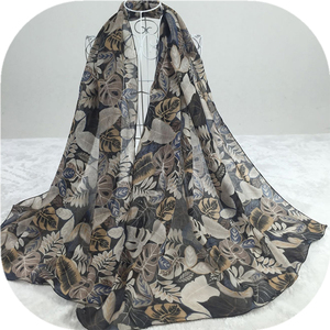 Newest Leaves Stoles for Women / Stoles and Scarves Rayon Stoles