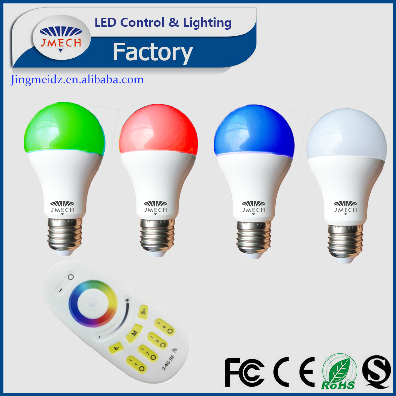 E27 9W LED 16 Color Changing LED Light Bulb Lamp + Multi zone Remote Control Colors Change