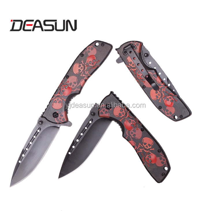 Aluminum handle 420 Stainless steel blade pocket knife
