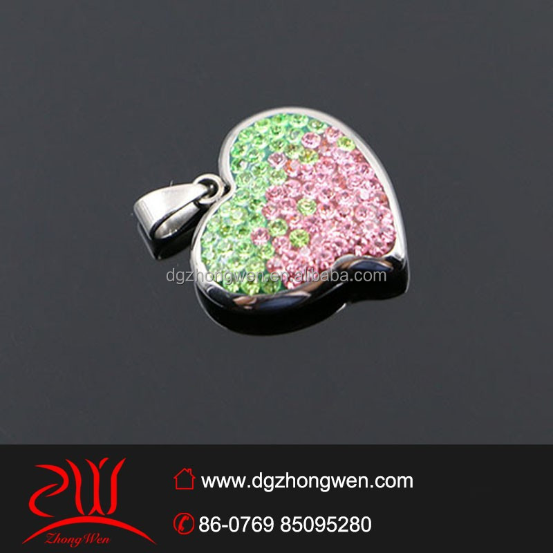 newest 2015 hot products stainless steel heart charms bulk