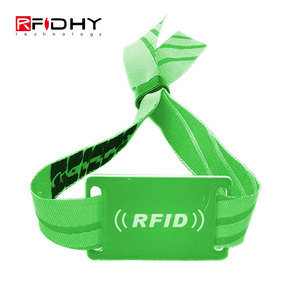 13.56MHz Ntag203 RFID Fabric Wristband Light Weight RF Wristbands