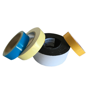Custom 1mm self adhesive 2 sided black EPDM foam tape with printed liner two side foam