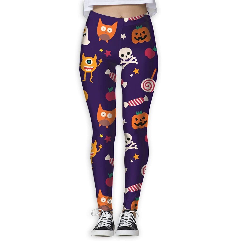 afb8b74c027478 Get Quotations · MARO&NG Leggings Yoga Pants Women's Halloween Day Pumpkin  Sexy Hot Activewear High-Waist Tights Leggings