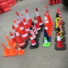 "HOT SELL all size PVC traffic safety cones with black base 28"", 36"""