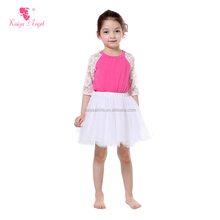 Beautiful spring birthday party wear kids toddler girls boutique white tutu dress cheap pettiskirt wholesale