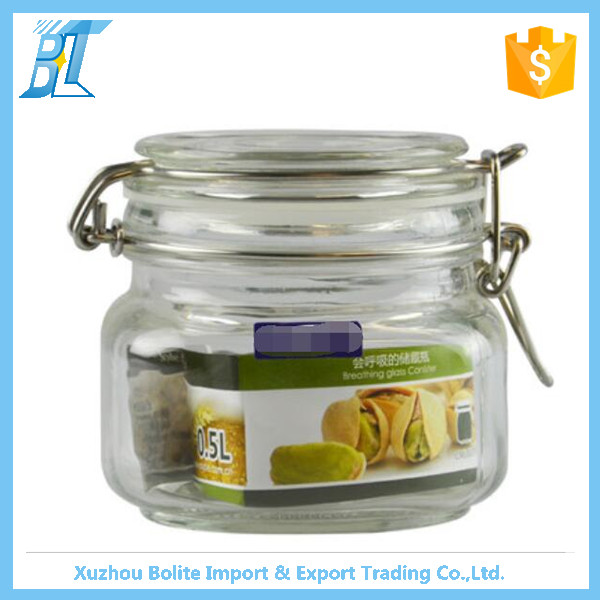 Airtight Small Glass Storage Jar With Ceramic Lid Buy Small Glass Containers Glass Jar With