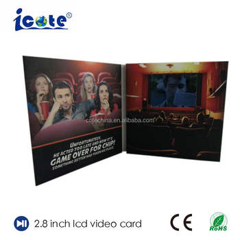 Cote 2.8 Inch Office Video Player Greeting Card For Employee/Staff