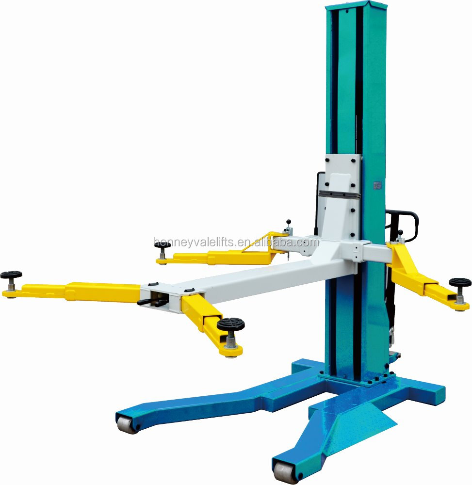 Portable Single Post Car Lift, Single Post Car Hoist, 1
