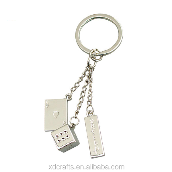 BSCI poker shaped keychain with customized logo