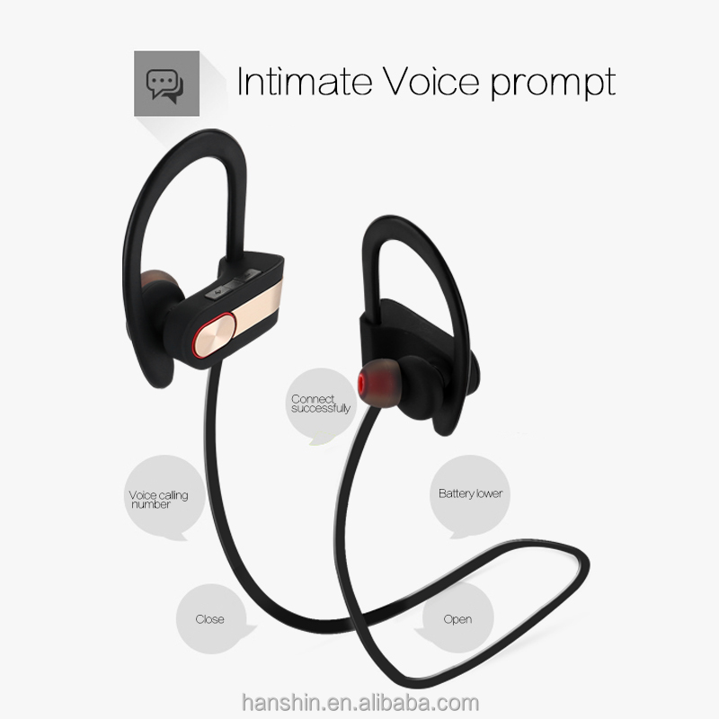 Bluetooth Headphones Wireless In Ear Earbuds V4.1 Stereo Noise Isolating Sports Sweatproof Headset with Mic, Premium Bass Sound