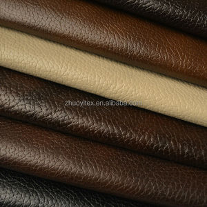 cheap faux PU bonded brushed tricot fabric textile sofa fabric